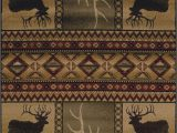 Area Rugs with Deer On them Hunters Dream Deer Antlers southwest Cabin Lodge area Rug