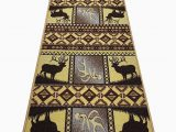 Area Rugs with Deer On them Seaport Deer Wildlife Cut to Size Yellow Brown area Rug