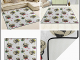 Area Rugs with Dog Designs Cartoon Pug Dog area Rug Rugs for Living Room Bedroom 53