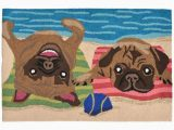Area Rugs with Dog Designs Funcolorful and Unique Beach Dog Rug Bring A Couple Of