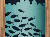 Area Rugs with Fish On them Amazon Ambesonne Fish area Rug Surreal ornate Swirl