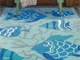 Area Rugs with Fish On them Pany C Loop Hooked Go Fish area Rugs
