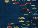 Area Rugs with Fish On them Silver Ridge Weavers south Sea Fishes Rugs