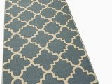 Area Rugs with Non Skid Backing Runner Rug 2×7 Green Trellis Kitchen Rugs and Mats