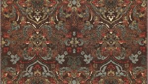 "Area Rugs with Non Slip Backing Well Woven Non Skid Slip Rubber Back Antibacterial 3×5 3 3"" X 4 7"" Traditional Persian Rug Brown Mutli Color Thin Low Pile Machine Washable Indoor"