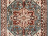 Area Rugs with soft Backing Celesita Blue Traditional Vintage Rug with Images