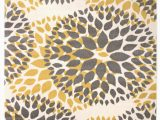 Area Rugs with Yellow Accents Beaudette Floral Yellow Gold area Rug
