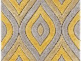 "Area Rugs with Yellow Accents Well Woven Moira Yellow Geometric Trellis Thick soft Plush 3d Textured Shag area Rug 5×7 5 3"" X 7 3"""