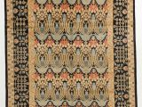 Art Deco Style area Rugs 8 X 11 Coral Black Ikat Rug