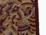 Art Deco Style area Rugs French Art Deco Purple and Beige Patterned Rug