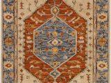 Artemis Blue orange area Rug Surya Artemis Aes 2303 area Rug