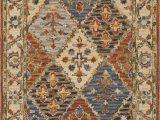 Artemis Blue orange area Rug Surya Artemis Aes 2308 Beige Traditional Wool Rug From the