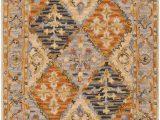 Artemis Blue orange area Rug Surya Artemis Aes 2309 Burnt orange Bordered Traditional Rug