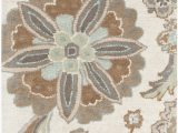 Athena Garden Floral area Rugs Surya ath5123 8rd athena 8 Round Wool Hand Tufted Floral area Rug Blue