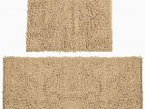 Bath Rug Non Skid Backing Bathroom Rugs Chenille Bath Mat Set soft Plush Non Skid Shower Rug toilet Mat Marzipan