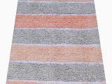Bath Rug Non Skid Backing Chardin Home Cordural Stripe Bath Runner Non Skid Backing 24 W X 60 L Lavender Gray and Coral Pink