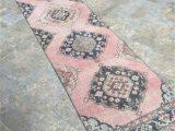 Bath Rug Runner 72 oriental Light Pink Runner Rug Oushak Rug Runner Vintage