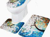 Bath Rugs and toilet Seat Covers 3pcs Bathroom Floral Lid toilet Seat Cover Pedestal Rug Bath Mat Carpet Set Walmart