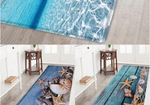 Bath Rugs that Absorb Water This Beach Style Bathroom Rug Features A Classic Starfish