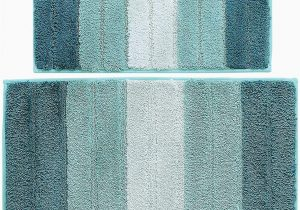 Bath Rugs that Absorb Water Wovwvool Bathroom Rugs Plush Mat Polyester Microfiber Non Slipsoftabsorbent and Machine 20a—32 and 18a—26 Aqua Greeni¼‰