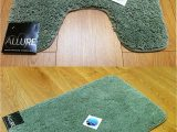 Bath Rugs with Rubber Backing 2 Piece Set Plain Supersoft Bathroom Fern Green Bath Mat