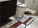 Bathroom Rug and toilet Sets 2019 toilet Carpet Sets New Stripe Non Slip Bathroom Carpet
