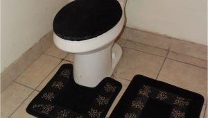 Bathroom Rug Around toilet 3pc Bathroom Set Rug Contour Mat toilet Lid Cover solid