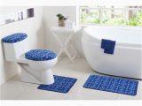 Bathroom Rug Tank Sets Bathroom Rug Set Blue Mat Contour Rug Lid toilet Tank