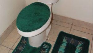 Bathroom Rugs and toilet Lid Covers Bathmats Rugs and toilet Covers 3pc 5 Hunter Green