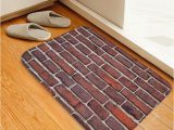Bathroom Rugs Wall to Wall Brick Wall Pattern soft Anti Skid area Rug