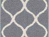"Bathroom Runner Rug Gray Maples Rugs Rebecca Contemporary Runner Rug Non Slip Hallway Entry Carpet [made In Usa] 1 9"" X 5 Grey White"