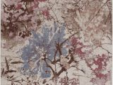 Bazaar area Rug Faux Fur Art Carpet Bazaar Katrina Flat Woven area Rug Floral 5 X 7
