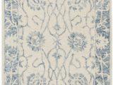 """Bazaar Gemma Gold area Rug Morgan 351 2 3"""" X 8 Ivory Wool Rug"""