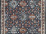"Bazaar Piper Charcoal area Rug 5 3"" X 7 10"" area Rug Indigo Mallard Green Persian Pattern Traditional Classic"