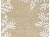 Beach Cottage Style area Rugs Coral Bordered Beige area Rug