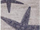 Beach themed area Rugs 8×10 Amazon Starfishes Stripes Design Nautical Coastal area