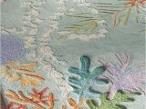 Beach themed area Rugs 8×10 This Beautiful Coral Reef Rug