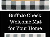 Bed Bath and Beyond Entry Rugs Say Wel E In Style with This Buffalo Check Wel E Mat for