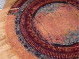 Bed Bath and Beyond Round Rugs orange 6 X 6 Casablanca Round Rug Esalerugs Round Rugs