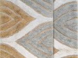 Bed Bath and Beyond Rug Gripper Steadman Rectangular Cotton Non Slip Geometric 2 Piece Bath Rug Set