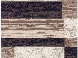 """Bed Bath and Beyond Rug Gripper Superior Modern Rockwood Collection Rug Runner Modern area Rug 8 Mm Pile Geometric Design with Jute Backing Chocolate 2 6"""" X 8"""