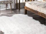 Bed Bath and Beyond Sheepskin Rug Downy Faux Sheepskin Quarto Shag White Rug