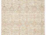 Beige and Gold area Rugs Dentelle Hand Knotted Geometric Beige & Gold area Rug