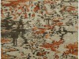 Beige and orange area Rug Famous Maker Dynamic Mirage Burnt orange area Rug