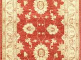 Beige and Rust area Rug Farahan Hand Knotted Wool Cream Rust area Rug