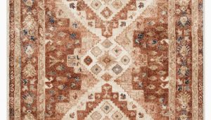 Beige and Rust area Rug Jamieson Medallion Rust Beige area Rug
