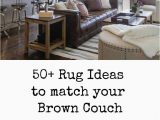 Best area Rug for Brown Leather Furniture Room Redo Modern Farmhouse Living Room