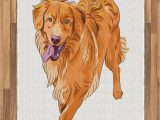 Best area Rug Material for Dogs Amazon Ambesonne Golden Retriever area Rug Playful Dog
