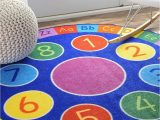 Best area Rugs for toddlers Number Circles Kids area Rugs 8 Blue