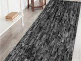 Best Bath Rug Material Brick Wall Print Crystal Velvet Fabric Bath Mat